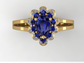 Custom Sapphire Ring Nicholas and Alexandra Jewelers Doylestown Pa