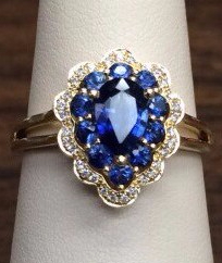 Custom Sapphire Ring Nicholas and Alexandra Jewelers Doylestown Pa
